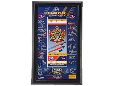Winnipeg Jets 2016 Heritage Classic Signature Ticket Frame