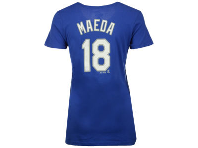Los Angeles Dodgers Kenta Maeda Majestic MLB Women's Crew Player T-Shirt