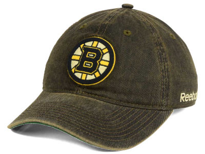 Boston Bruins Reebok NHL Over Dye Slouch Cap