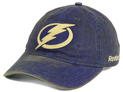 Tampa Bay Lightning Reebok NHL Over Dye Slouch Cap