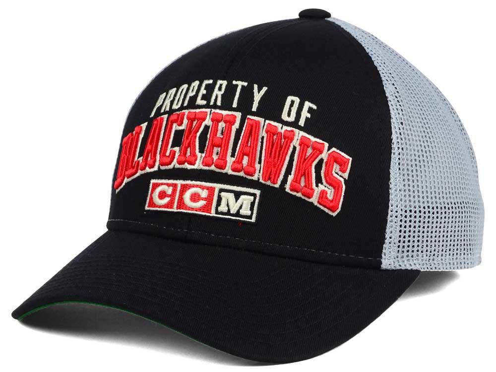 ac8f4dc416f Chicago Blackhawks CCM NHL CCM Truckn Adjustable Cap