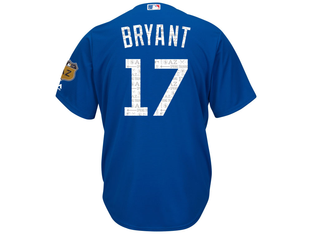 best service 66000 ed767 Chicago Cubs Kris Bryant MLB Men's Spring Training Patch Replica Cool Base  Jersey