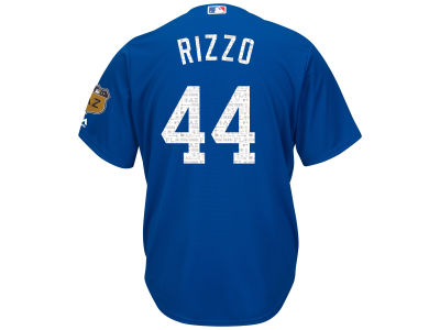 Chicago Cubs Anthony Rizzo MLB Men's Spring Training Patch Replica Cool Base Jersey