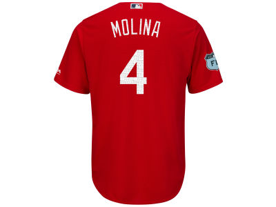 St. Louis Cardinals Yadier Molina MLB Men's Spring Training Patch Replica Cool Base Jersey