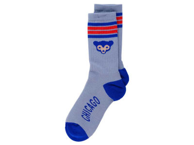 Chicago Cubs Retro 4 Stripe Deuce Crew Socks