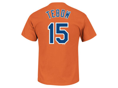 New York Mets Tim Tebow Majestic MLB Men's Official Player T-Shirt