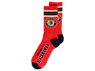 Chicago Blackhawks Retro 4 Stripe Deuce Crew Socks