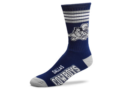 Dallas Cowboys Retro 4 Stripe Deuce Crew Socks