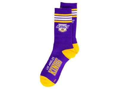 Los Angeles Kings For Bare Feet Retro 4 Stripe Deuce Crew Socks