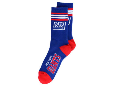 New York Giants Retro 4 Stripe Deuce Crew Socks