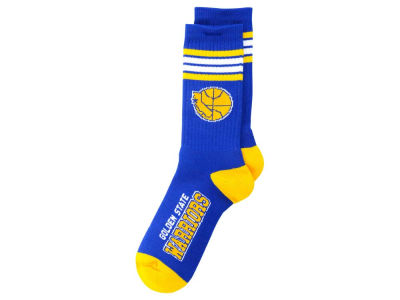 Golden State Warriors Retro 4 Stripe Deuce Crew Socks