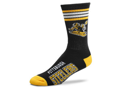 Pittsburgh Steelers Retro 4 Stripe Deuce Crew Socks