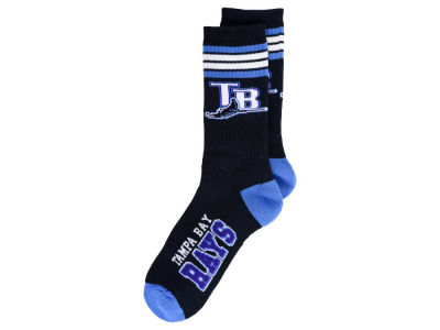 Tampa Bay Rays For Bare Feet Retro 4 Stripe Deuce Crew Socks