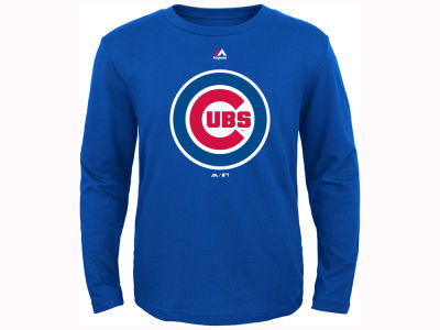Chicago Cubs Outerstuff MLB Youth Primary Logo Long Sleeve T- Shirt