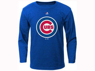Chicago Cubs Outerstuff MLB Kids Primary Logo Long Sleeve T- Shirt