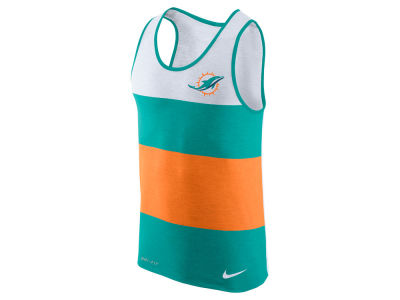 Miami Dolphins Nike NFL Men's Wide Stripe Tank
