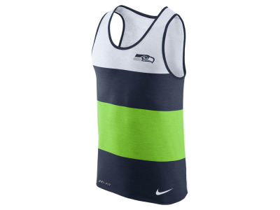 Seattle Seahawks Nike NFL Men's Wide Stripe Tank