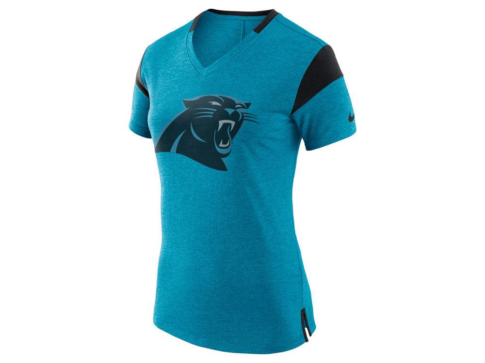 Carolina Panthers Nike NFL Women s Fan V Top T-Shirt  1fddb824fe