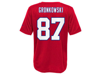 New England Patriots Rob Gronkowski Nike NFL Youth Pride Name and Number T-Shirt