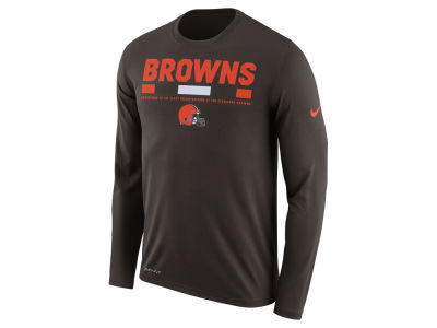 Cleveland Browns Nike NFL Men's Legend Staff Long Sleeve T-Shirt