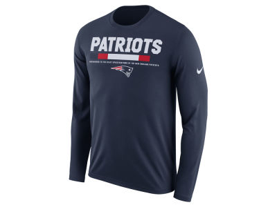 New England Patriots Nike NFL Men's Legend Staff Long Sleeve T-Shirt