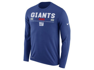 New York Giants Nike NFL Men's Legend Staff Long Sleeve T-Shirt