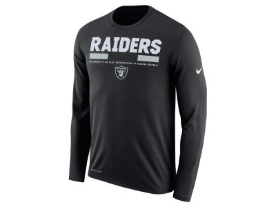Oakland Raiders Nike NFL Men's Legend Staff Long Sleeve T-Shirt