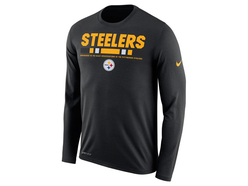 Pittsburgh Steelers Nike NFL Men s Legend Staff Long Sleeve T-Shirt ... 9e45632a2
