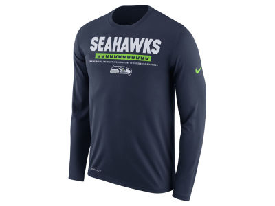 Seattle Seahawks Nike NFL Men's Legend Staff Long Sleeve T-Shirt