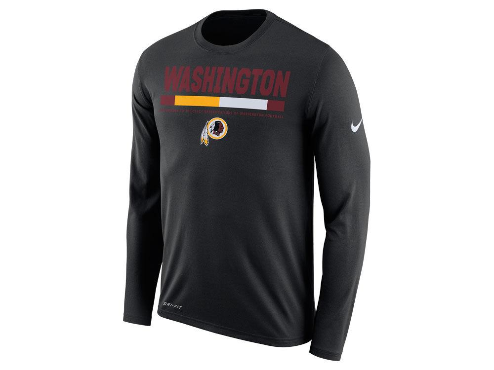 Washington Redskins Nike NFL Men s Legend Staff Long Sleeve T-Shirt ... 8f5da3709