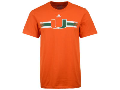 Miami Hurricanes adidas NCAA Men's Legendary Striping T-Shirt