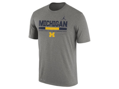 Michigan Wolverines Nike 2017 NCAA Men's Legend Staff Sideline T-Shirt