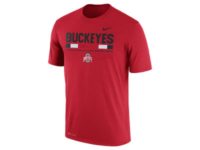 Ohio State Buckeyes Nike 2017 NCAA Men's Legend Staff Sideline T-Shirt