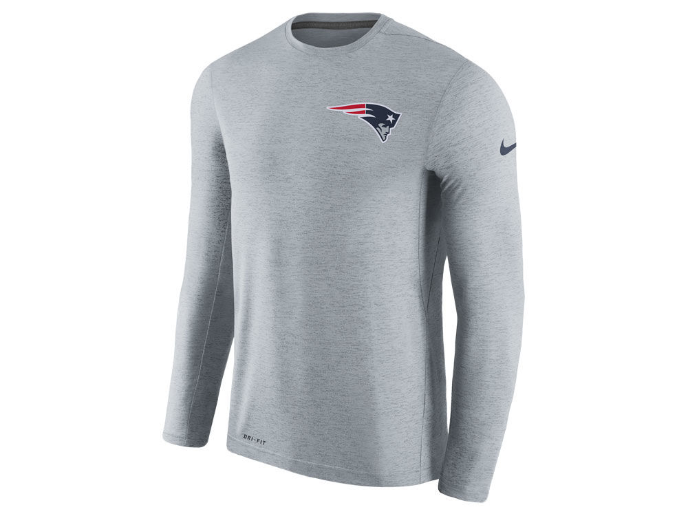 New England Patriots Nike NFL Men s Coaches Long Sleeve T-shirt ... 866a5e2c8