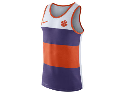 Clemson Tigers Nike NCAA Men's Team Stripe Tank