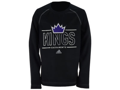 Sacramento Kings adidas NBA Youth Performance Crew Long Sleeve T-Shirt