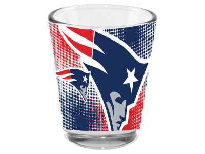 New England Patriots 2oz Fade Away Collector Glass