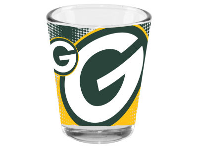 Green Bay Packers 2oz Fade Away Collector Glass