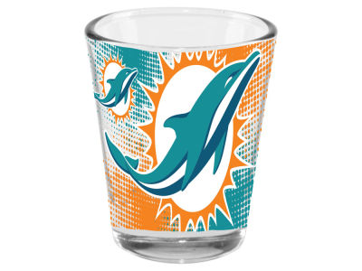 Miami Dolphins 2oz Fade Away Collector Glass