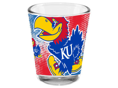 Kansas Jayhawks Memory Company 2oz Fade Away Collector Glass