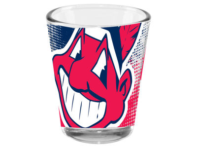Cleveland Indians 2oz Fade Away Collector Glass