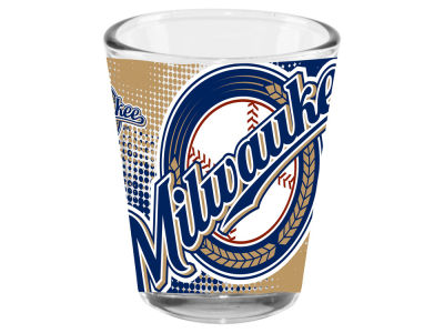 Milwaukee Brewers 2oz Fade Away Collector Glass