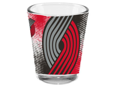 Portland Trail Blazers 2oz Fade Away Collector Glass