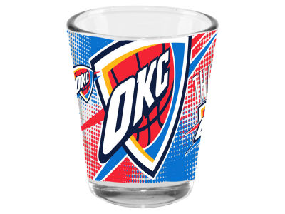Oklahoma City Thunder 2oz Fade Away Collector Glass