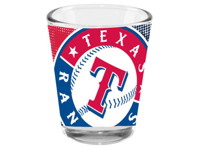 Texas Rangers Memory Company 2oz Fade Away Collector Glass