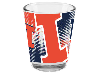 Illinois Fighting Illini 2oz Fade Away Collector Glass