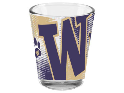 Washington Huskies 2oz Fade Away Collector Glass