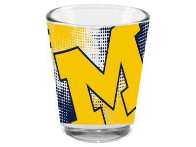 Michigan Wolverines 2oz Fade Away Collector Glass
