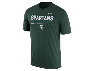 Michigan State Spartans Nike 2017 NCAA Men's Legend Staff Sideline T-Shirt