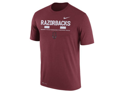 Arkansas Razorbacks Nike 2017 NCAA Men's Legend Staff Sideline T-Shirt